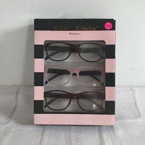 Betsey Johnson 3 Pair Reading Glasses  +2.50